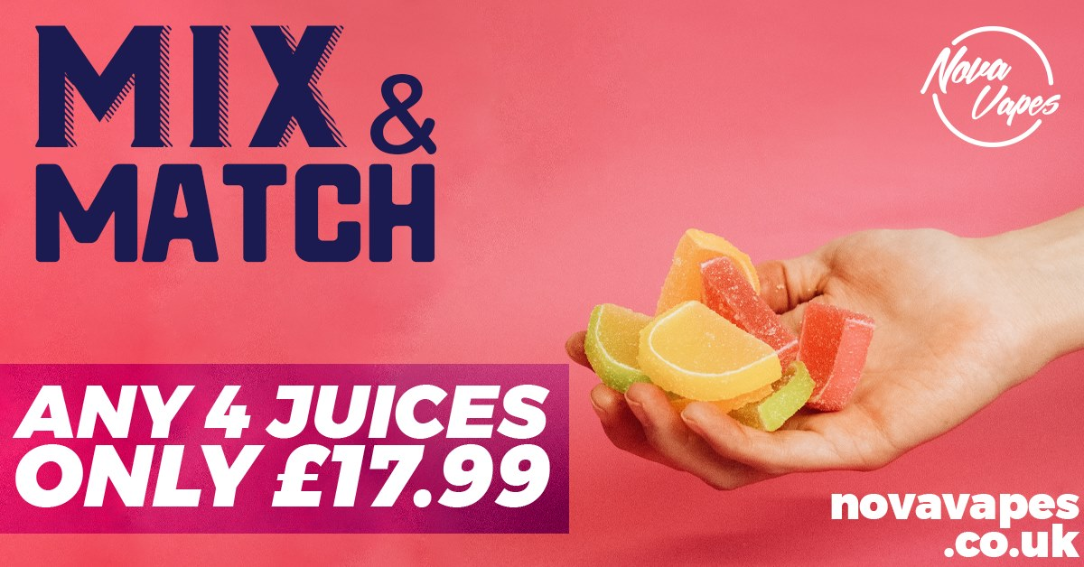 Mix and Match 4 x 60ML – £17.99