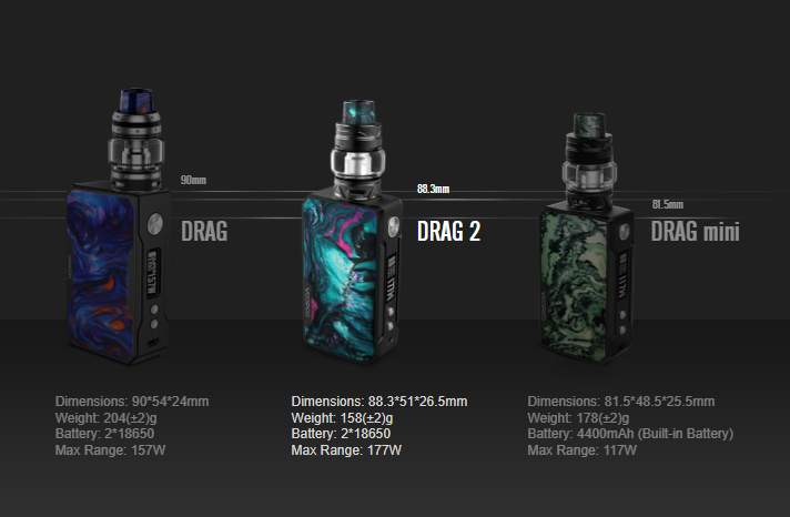 VOOPOO Drag 2 177w Kit with Uforce T2 Tank - £40 21