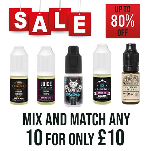TPD E-Liquids 10x 10ml – £10.00 at TABlites