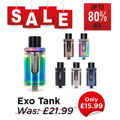 Aspire Cleito Exo Tank – £15.99 at TABlites