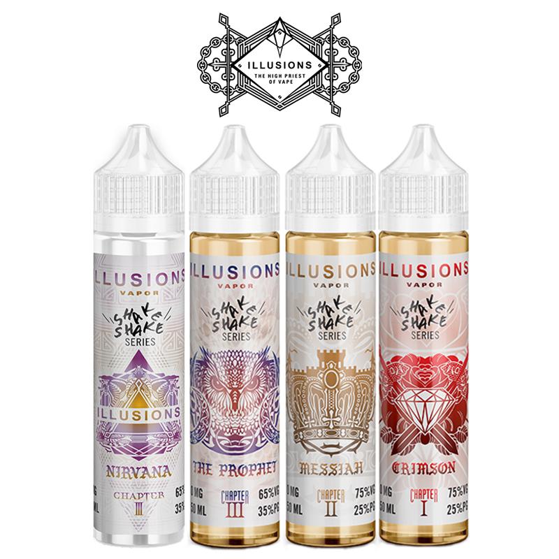 Illusions 50ml E-Liquid Shortfills – £10.99