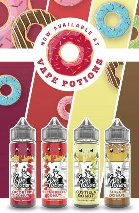 Vape Potions 120ml Shortfill Range – £6.97