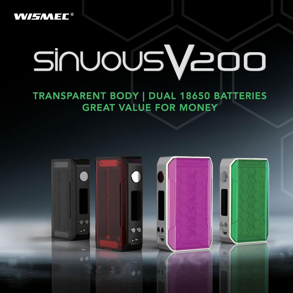 Wismec Sinuous V200 E-cig Mod – £31.99 At TECC