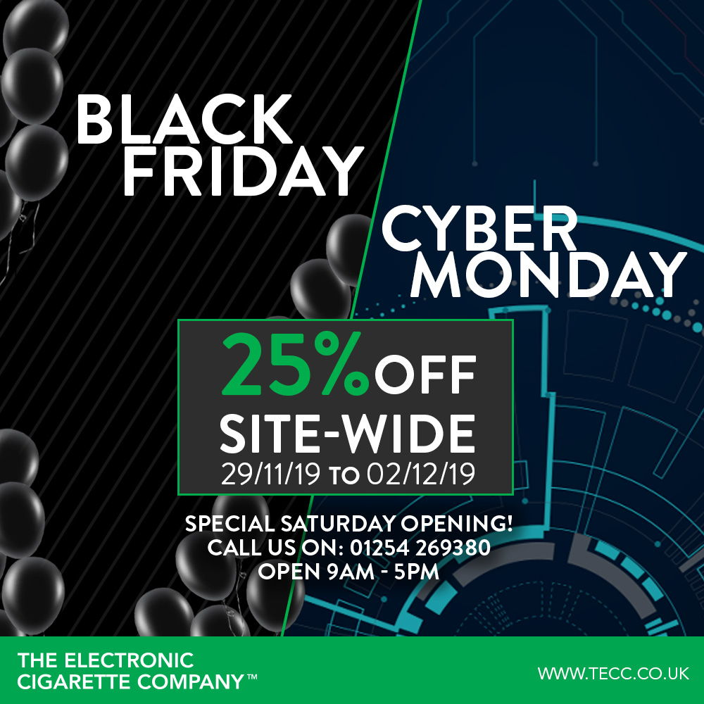 Cyber Monday – 25% Reduction SITE-WIDE At TECC