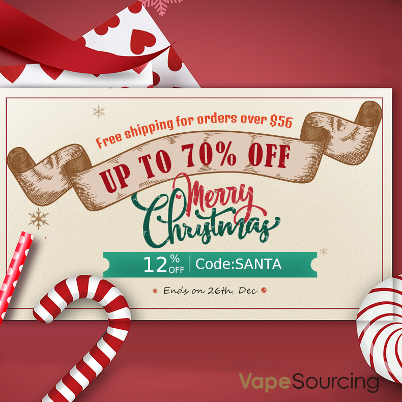 12% off Vapesourcing Merry Christmas Sale