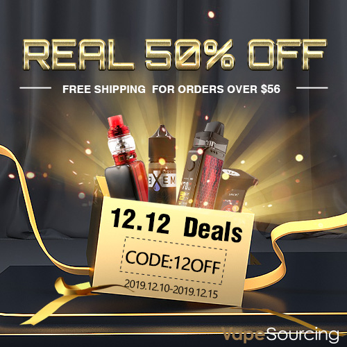 Vapesourcing Double 12 Sale – 12% OFF Sitewide