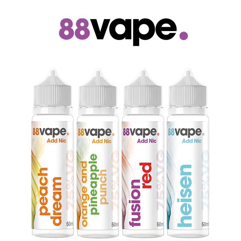 88 Vape 50ml E-Liquid Shortfill – £2.99