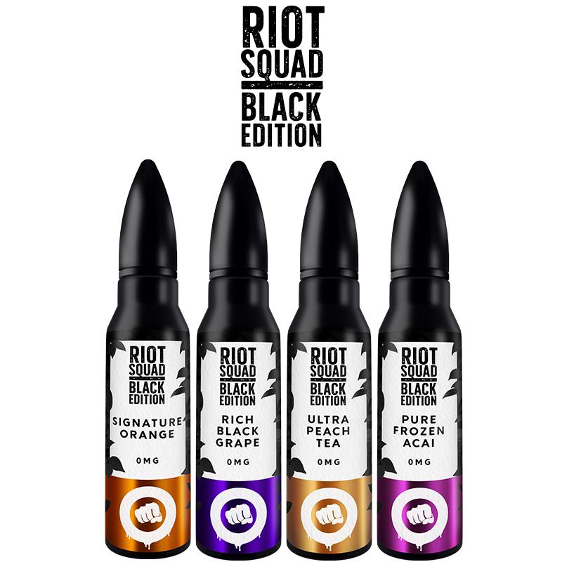 Riot Squad Black Edition 50ml E-Liquid Shortfills – £9.99