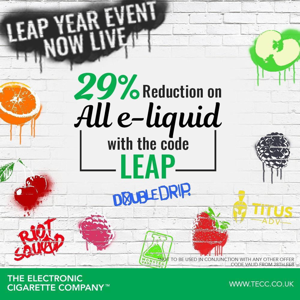 29% Reduction On All Vape Liquid At TECC