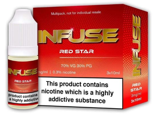Red Star By Infuse E-Liquid 3 X 10ml – £1.50