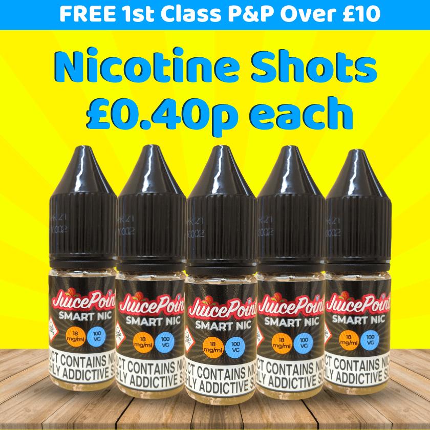 Nicotine Shots – £0.40