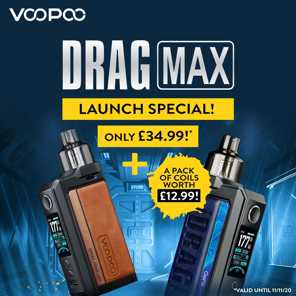 VOOPOO DRAG Max Kit With FREE Coils – £34.99 At TECC