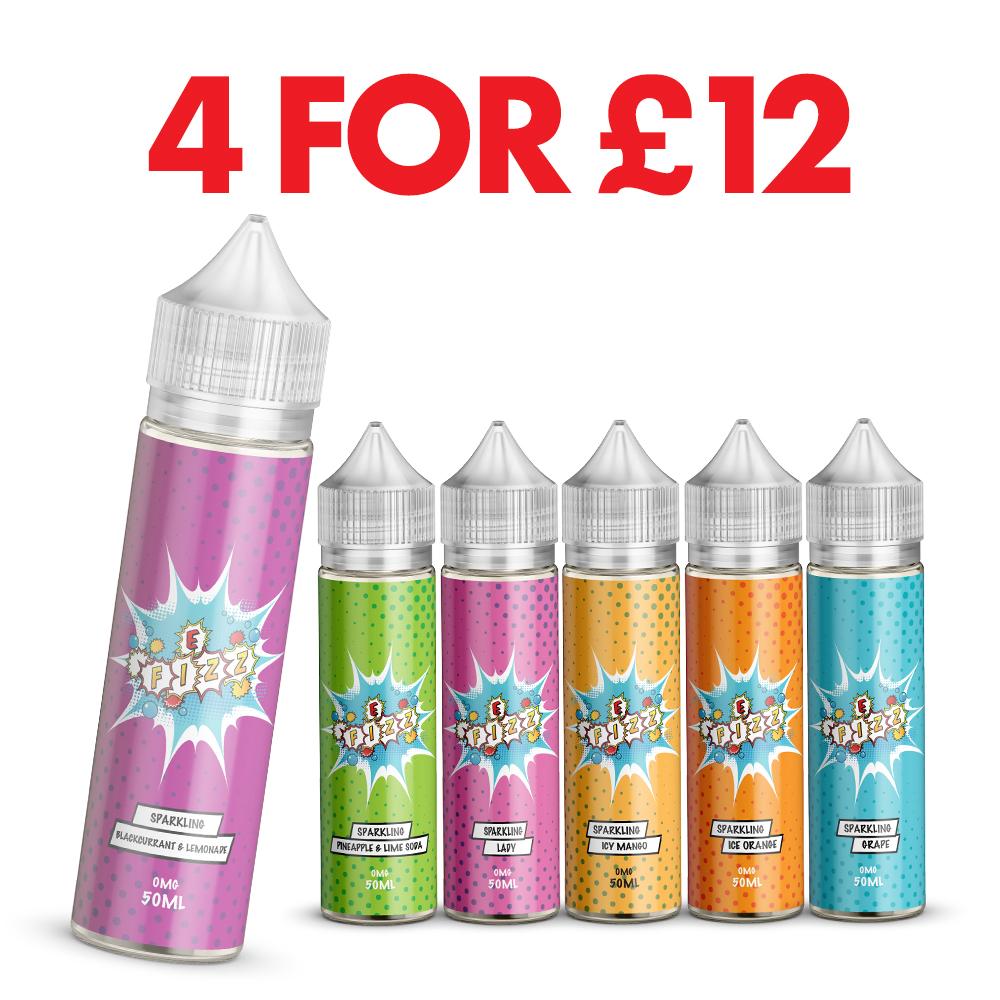 E-Fizz E-Liquid 200ml Bundle – £12.00