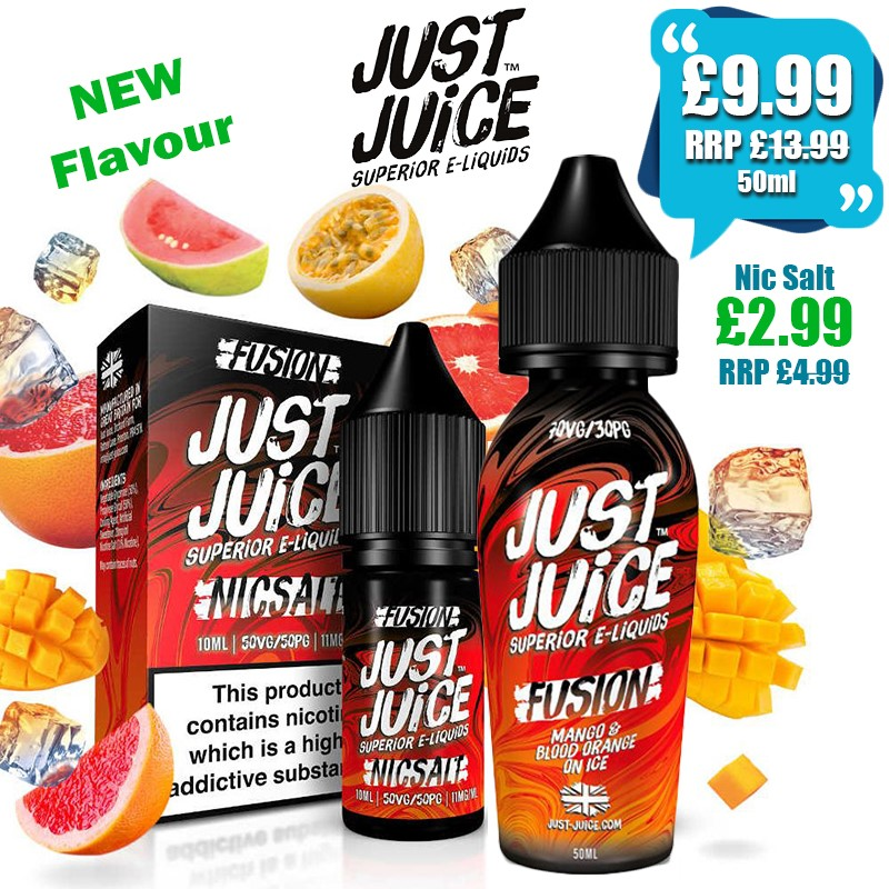Just Juice eliquids 50ml – £9.99