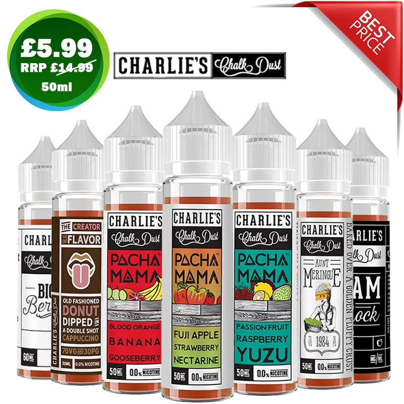 Charlies Chalk Dust 50ml eliquid – £5.99