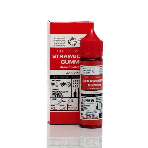 Glas Basix E-Liquid Strawberry Gummy 60ml on Vape Drive