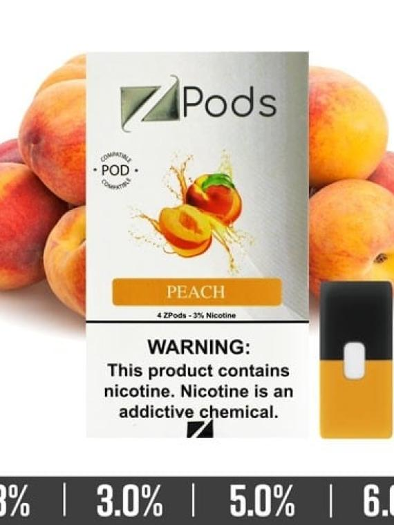 Peach Ziip Pods for Juul Devices - vapecorners