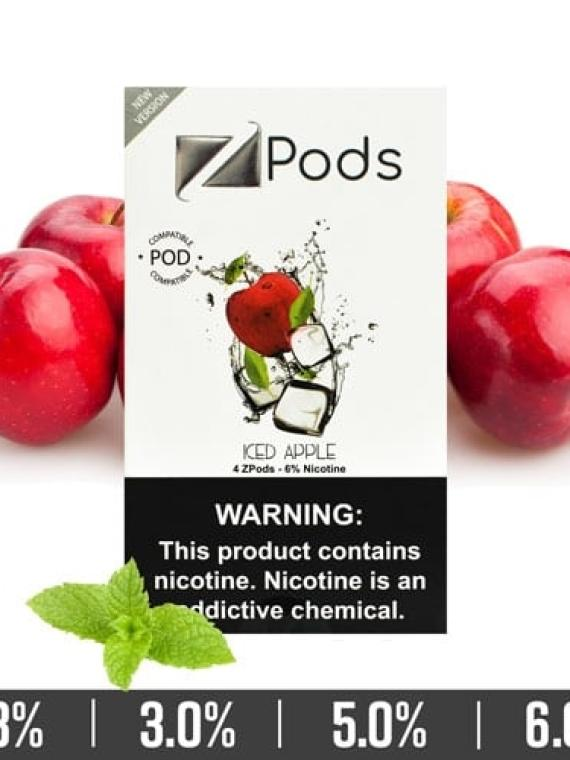Iced Apple Ziip Pods for Juul Devices in Dubai UAE