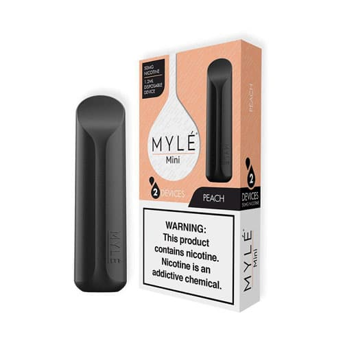 Buy MYLE Mini Peach Disposable Device - vapedubaicity.com