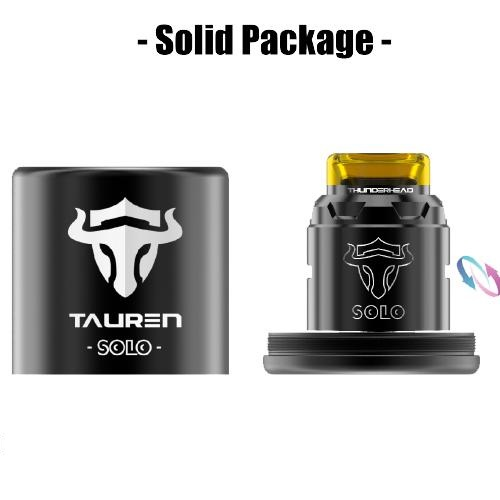 3 thunderhead creations tauren solo rda xsmokers greece - Tauren Solo RDA 24mm by Thunderhead (THC)