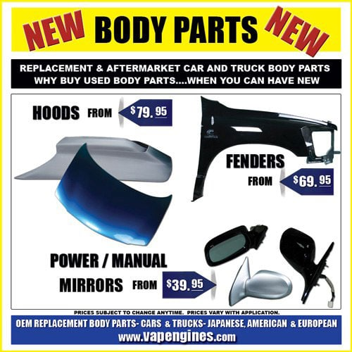 Aftermarket Replacement Body Repair Parts for cars