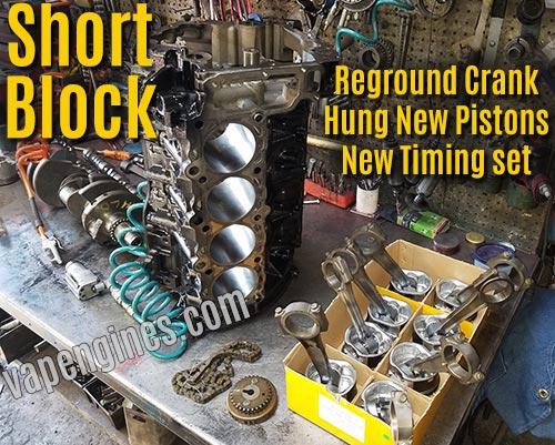 Building a short block engine