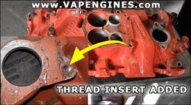 Install thread inserts at machine shop