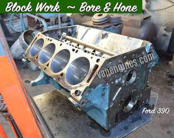 Engine Block Work-Bore and Hone