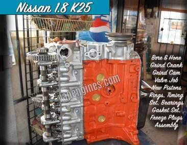 Nissan 1.8 K25 Engine Rebuild Machine Shop