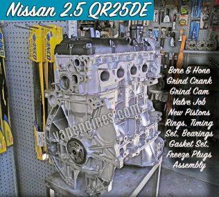 Nissan 2.5 QR25DE Engine Rebuild Machine Shop