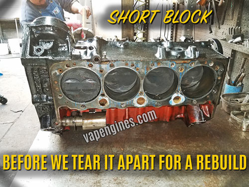 short block rebuild- before shot. GM 327