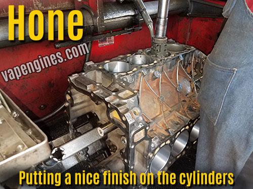 Engine rebuild- hone engine block