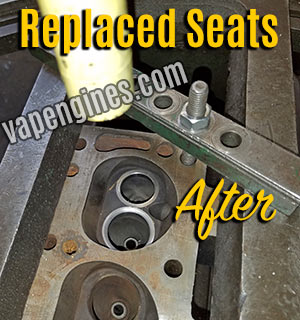 Valve seat replacement for cylinder head repair