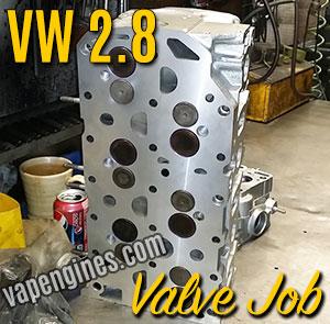 VW 2.8 Cylinder Head Valve job
