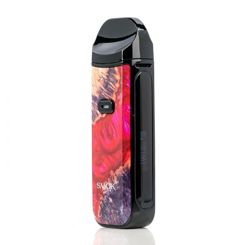 smok nord 2 pod system red stabilized wood