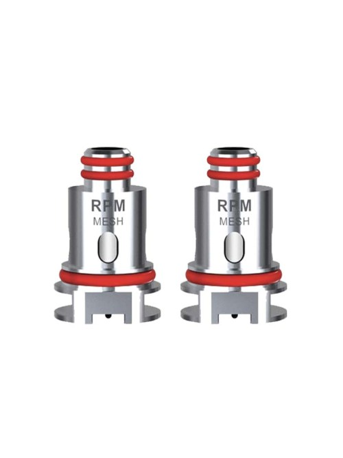 The SMOK RPM40 replacement coils.. Choose from 0.4ohm mesh or 1.0ohm SC. PRICE IS PER COIL