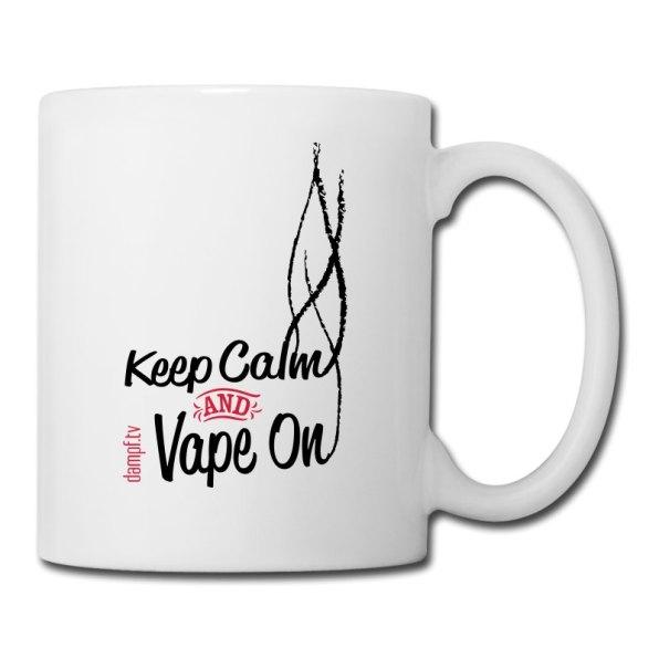 Keep Calm and Vape On - Kaffeetasse