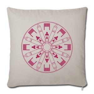 Kissen mit Dampfer-Motiv - Vape-Mandala