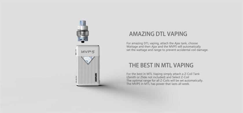 Innokin MVP5 Starter Kit 120W Amazing DTL Vaping