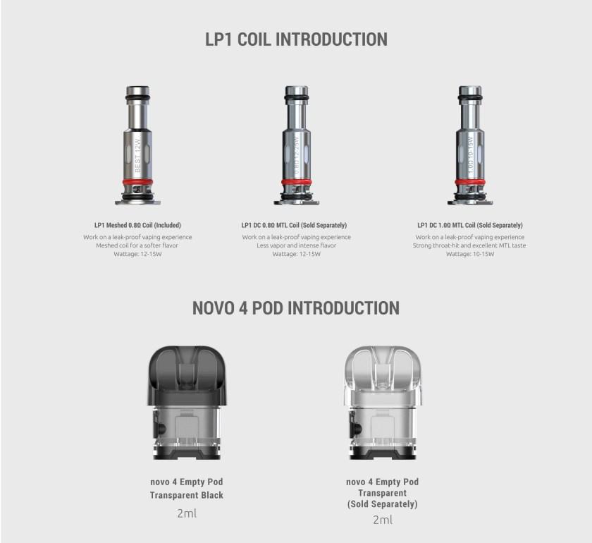 SMOK Novo 4 Pod and Coils