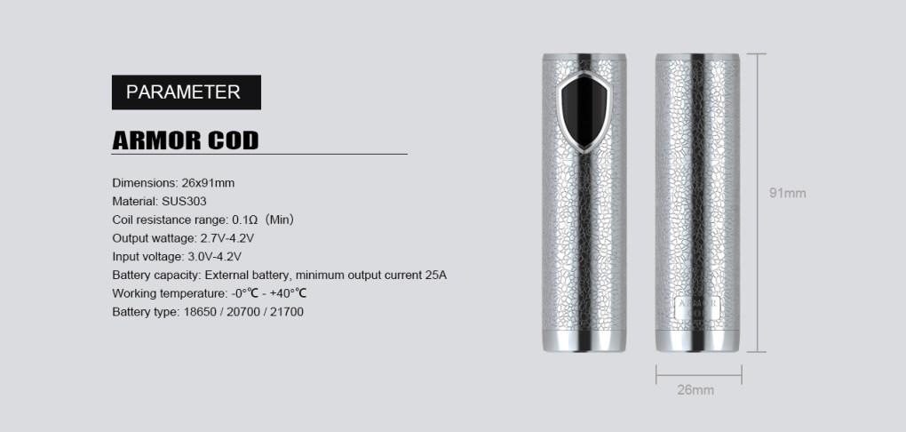 armor cod 21700 semi mech mod by ehpro 7