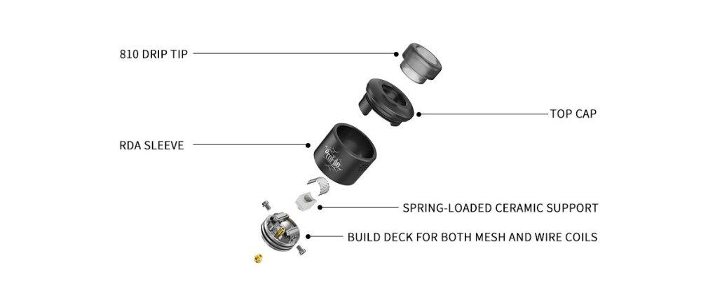 Profile RDA 24mm mesh vapexperts 5