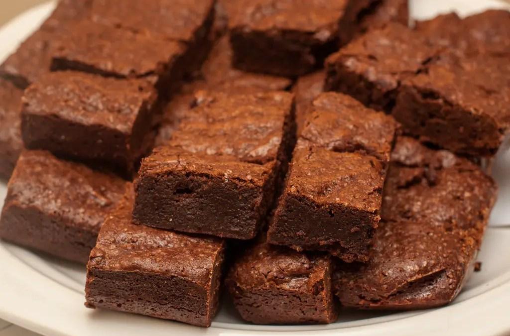 Brownies de maconha vegano