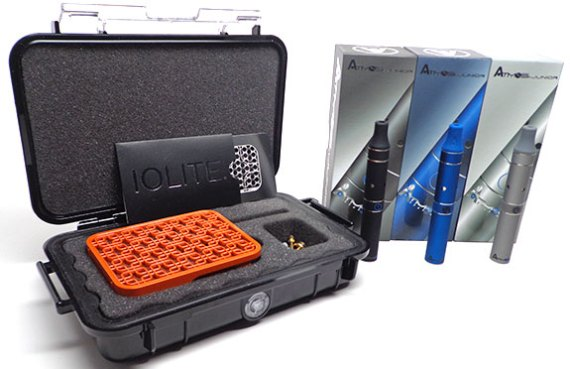 The Wispr 2 in its hard shell sport case and the grand prize Atmos Junior