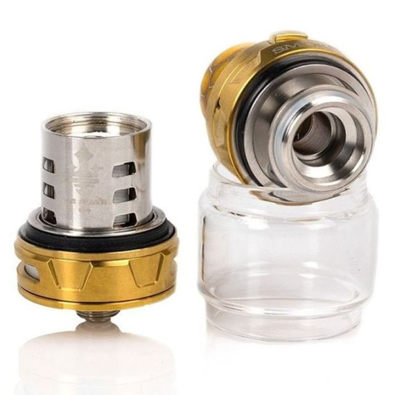 The TFV12 Prince tank comes with the bulb glass to hold up to 5ml of your favorite #ejuice. Get the tank by itself or included in the SMOK Mag kit at ezvapes.com #ezvapes #vtw #vapetheworld #smok #smokmag #smokmagkit #smokprince #tfv12 #smokprince