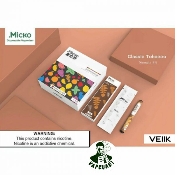 Micko Disposable Vaporizer By Veiik-classic tobacco