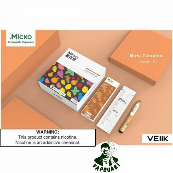 Micko Disposable Vaporizer By Veiik-Nuts Tobacco1