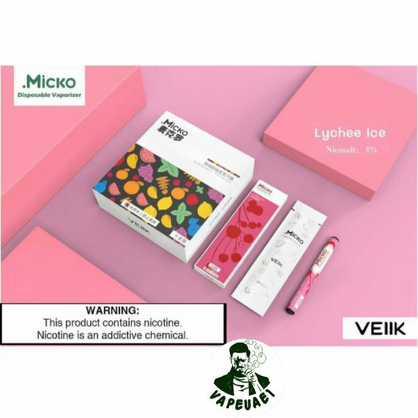 Micko Disposable Vaporizer By Veiik –Lychee Ice