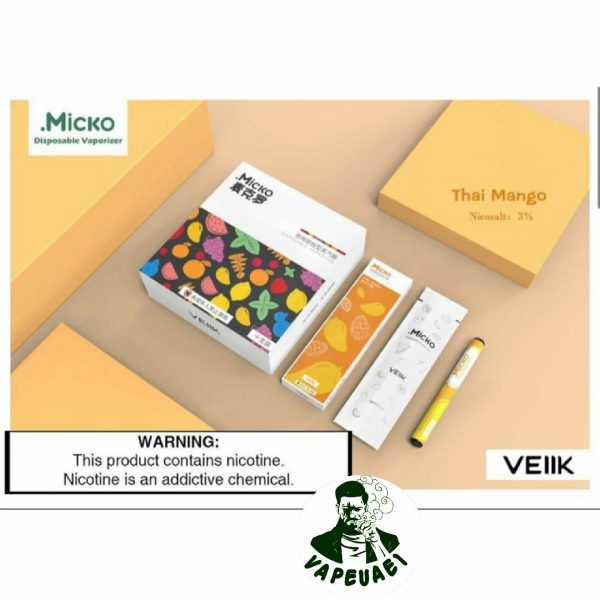 Micko Disposable Vaporizer By Veiik-Thai Mango