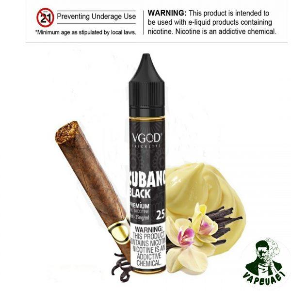 CUBANO BLACK SALTNIC BY VGOD